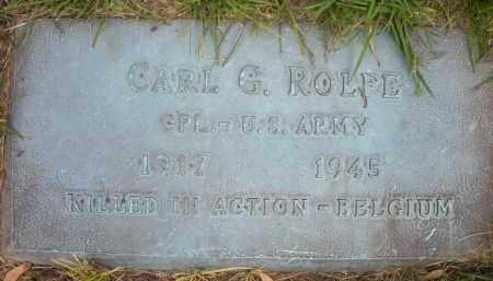 ROLFE, CARL G. - Chautauqua County, New York   CARL G. ROLFE - New York Gravestone Photos