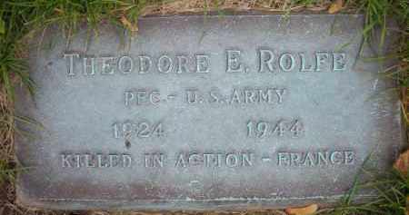 ROLFE, THEODORE E. - Chautauqua County, New York   THEODORE E. ROLFE - New York Gravestone Photos