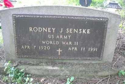 SENSKE, RODNEY J. - Chautauqua County, New York | RODNEY J. SENSKE - New York Gravestone Photos