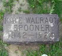 WALRADT SPOONER, KATE - Chautauqua County, New York | KATE WALRADT SPOONER - New York Gravestone Photos