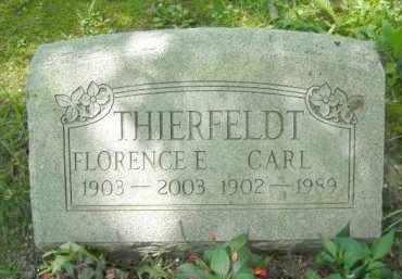 THIERFELDT, FLORENCE - Chautauqua County, New York | FLORENCE THIERFELDT - New York Gravestone Photos