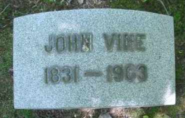 VINE, JOHN - Chautauqua County, New York   JOHN VINE - New York Gravestone Photos