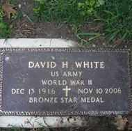 WHITE (WWII), DAVID H. - Chautauqua County, New York   DAVID H. WHITE (WWII) - New York Gravestone Photos
