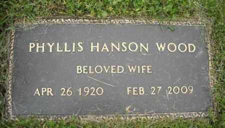 HANSON WOOD, PHYLLIS - Chautauqua County, New York | PHYLLIS HANSON WOOD - New York Gravestone Photos