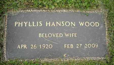 HANSON WOOD, PHYLLIS - Chautauqua County, New York | PHYLLIS HANSON WOOD - New York Gravestone Photos