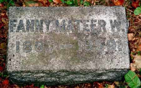 MATEER WRIGHT, FANNY - Chautauqua County, New York | FANNY MATEER WRIGHT - New York Gravestone Photos