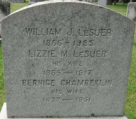 LESUER, BERNICE - Chenango County, New York | BERNICE LESUER - New York Gravestone Photos