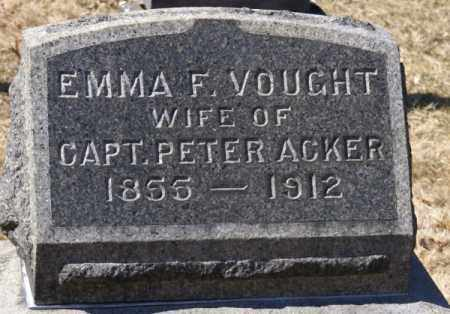 VOUGHT, EMMA FRANCES - Columbia County, New York | EMMA FRANCES VOUGHT - New York Gravestone Photos
