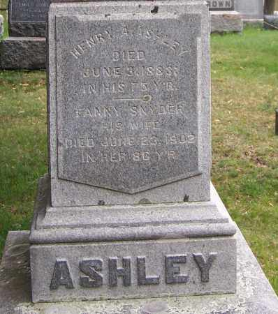 ASHLEY, HENRY A. - Columbia County, New York | HENRY A. ASHLEY - New York Gravestone Photos