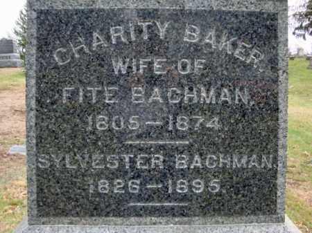 BACHMAN, CHARITY - Columbia County, New York | CHARITY BACHMAN - New York Gravestone Photos