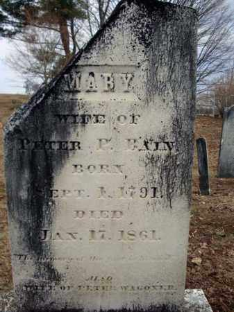 BAIN, MARY - Columbia County, New York | MARY BAIN - New York Gravestone Photos