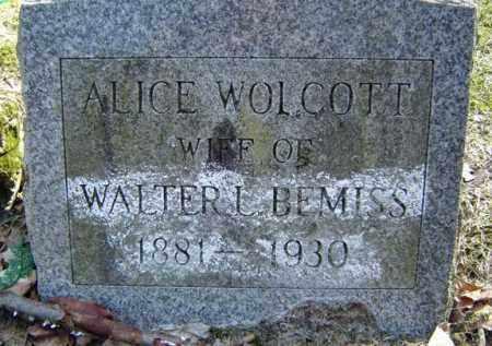 BEMISS, ALICE - Columbia County, New York | ALICE BEMISS - New York Gravestone Photos