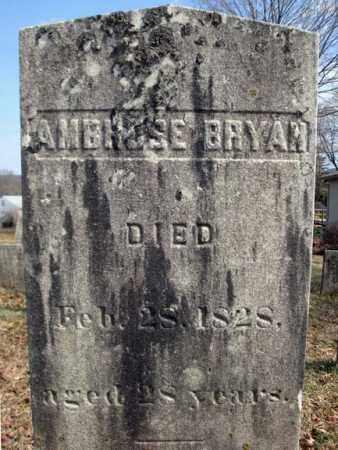 BRYAN, AMBROSE - Columbia County, New York | AMBROSE BRYAN - New York Gravestone Photos