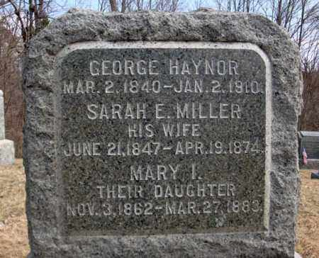 MILLER, SARAH E - Columbia County, New York | SARAH E MILLER - New York Gravestone Photos