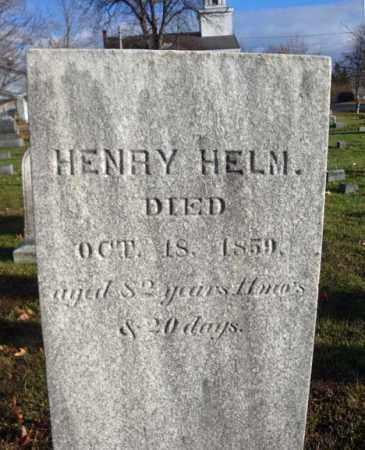 HELM, HENRY - Columbia County, New York   HENRY HELM - New York Gravestone Photos