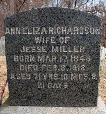 MILLER, ANN ELIZA - Columbia County, New York | ANN ELIZA MILLER - New York Gravestone Photos