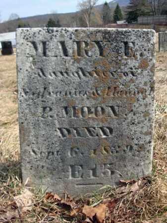 MOON, MARY E - Columbia County, New York   MARY E MOON - New York Gravestone Photos
