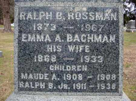 BACHMAN, EMMA A - Columbia County, New York | EMMA A BACHMAN - New York Gravestone Photos