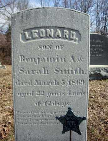 SMITH, LEONARD - Columbia County, New York | LEONARD SMITH - New York Gravestone Photos