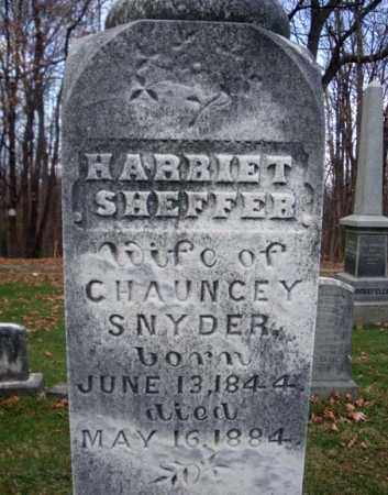 SHEFFER SNYDER, HARRIET - Columbia County, New York | HARRIET SHEFFER SNYDER - New York Gravestone Photos
