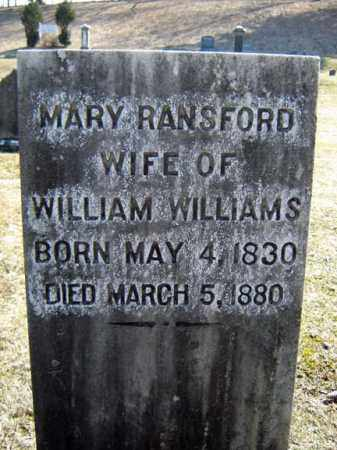 WILLIAMS, MARY - Columbia County, New York | MARY WILLIAMS - New York Gravestone Photos