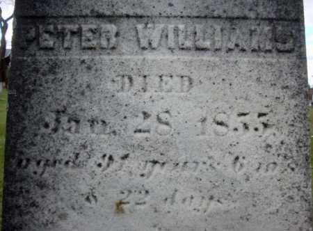 WILLIAMS, PETER - Columbia County, New York   PETER WILLIAMS - New York Gravestone Photos