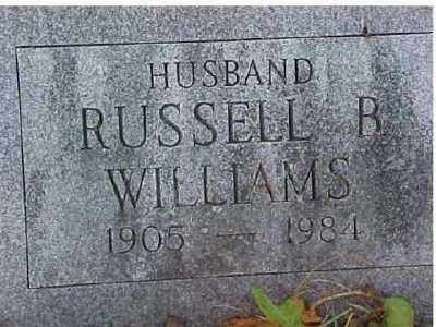 WILLIAMS, RUSSELL B - Columbia County, New York | RUSSELL B WILLIAMS - New York Gravestone Photos