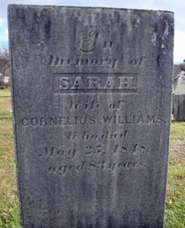 WILLIAMS, SARAH - Columbia County, New York | SARAH WILLIAMS - New York Gravestone Photos