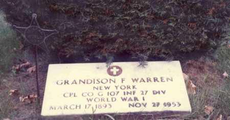 WARREN, GRANDISON FRISBIE - Delaware County, New York   GRANDISON FRISBIE WARREN - New York Gravestone Photos
