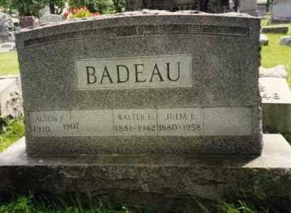 BADEAU, WALTER E - Erie County, New York   WALTER E BADEAU - New York Gravestone Photos