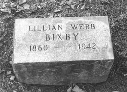 WEBB BIXBY, LILLIAN ESTELLE - Erie County, New York | LILLIAN ESTELLE WEBB BIXBY - New York Gravestone Photos