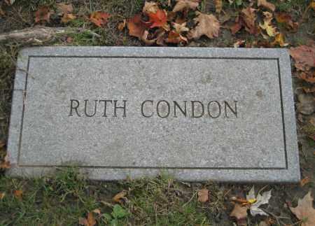CONDON, RUTH - Erie County, New York   RUTH CONDON - New York Gravestone Photos