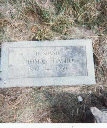GALBO, THOMAS - Erie County, New York | THOMAS GALBO - New York Gravestone Photos