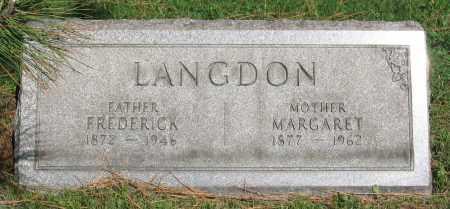 LANGDON, MARGARET - Erie County, New York | MARGARET LANGDON - New York Gravestone Photos