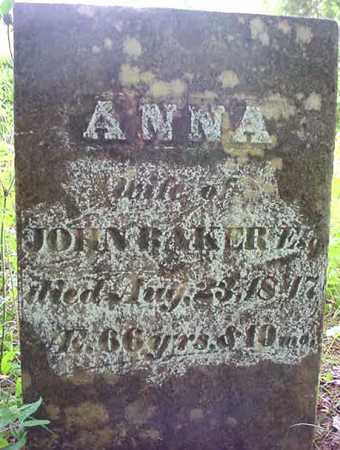 RAWSON BAKER, ANNA - Essex County, New York | ANNA RAWSON BAKER - New York Gravestone Photos