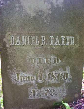 BAKER, DANIEL B - Essex County, New York | DANIEL B BAKER - New York Gravestone Photos