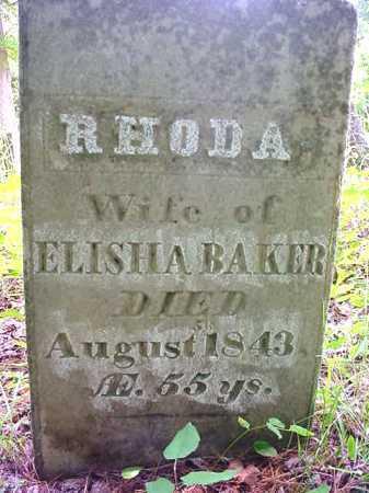 BAKER, RHODA - Essex County, New York | RHODA BAKER - New York Gravestone Photos