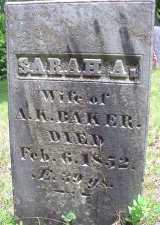 BAKER, SARAH A - Essex County, New York | SARAH A BAKER - New York Gravestone Photos