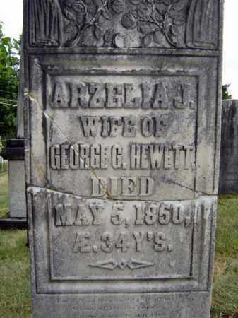 HEWETT, ARZELIA J - Essex County, New York | ARZELIA J HEWETT - New York Gravestone Photos