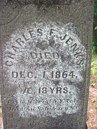 JENKS, CHARLES F - Essex County, New York | CHARLES F JENKS - New York Gravestone Photos