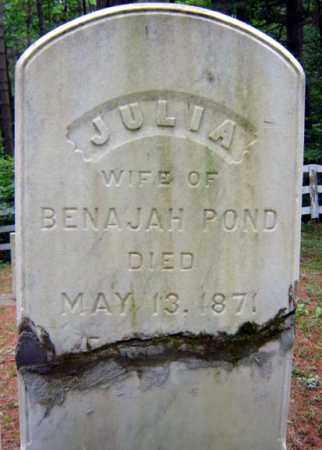 POND, JULIA - Essex County, New York | JULIA POND - New York Gravestone Photos