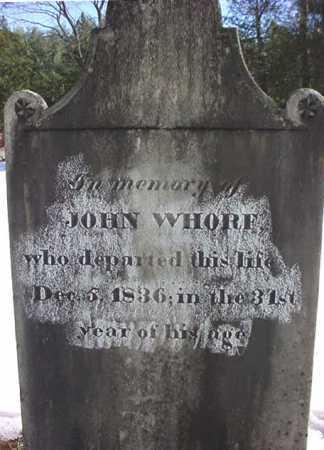 WHORF, JOHN - Essex County, New York | JOHN WHORF - New York Gravestone Photos