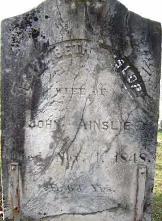AINSLIE, ELIZABETH - Fulton County, New York   ELIZABETH AINSLIE - New York Gravestone Photos