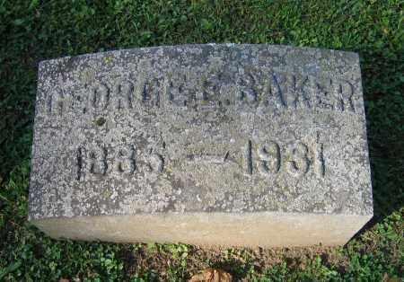 BAKER, GEORGE - Fulton County, New York   GEORGE BAKER - New York Gravestone Photos