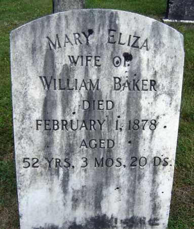 BAKER, MARY ELIZA - Fulton County, New York | MARY ELIZA BAKER - New York Gravestone Photos