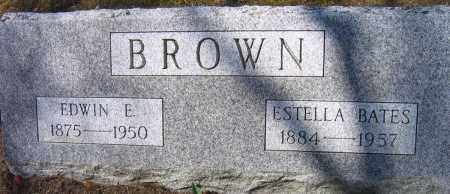 BROWN, EDWIN E. - Fulton County, New York | EDWIN E. BROWN - New York Gravestone Photos