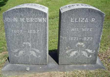 BROWN, ELIZA R - Fulton County, New York | ELIZA R BROWN - New York Gravestone Photos