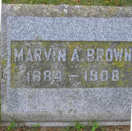 BROWN, MARVIN A. - Fulton County, New York | MARVIN A. BROWN - New York Gravestone Photos