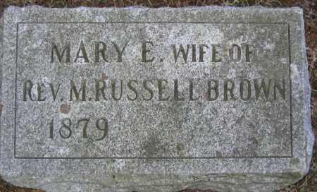 BROWN, MARY E. - Fulton County, New York   MARY E. BROWN - New York Gravestone Photos