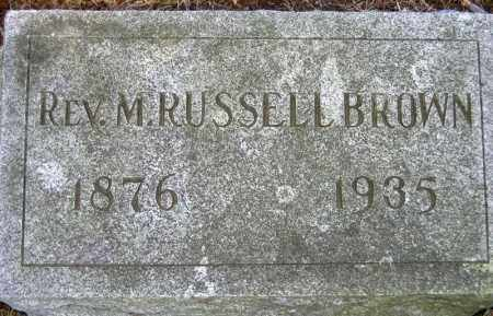 BROWN, M. RUSSELL - Fulton County, New York | M. RUSSELL BROWN - New York Gravestone Photos